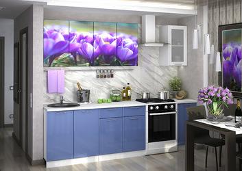 Кухня с фотопечатью Подснежники 2,0м