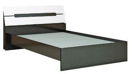 Кровать с основанием ДСП 1400 Гавана венге - акрил белый