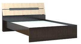 Кровать с основанием ДСП 1400 Гавана венге - дуб молочный