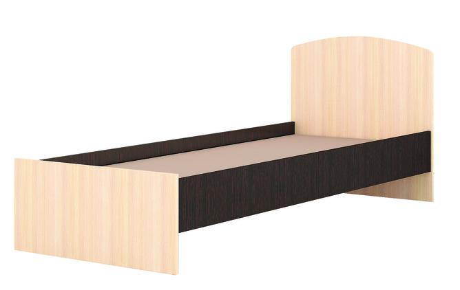 Кровать 900 Ненси-1 венге - дуб молочный