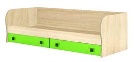 Кровать с ящиками Колибри дуб сонома - акрил мохито