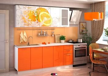 Кухня с фотопечатью Апельсин 2,0м