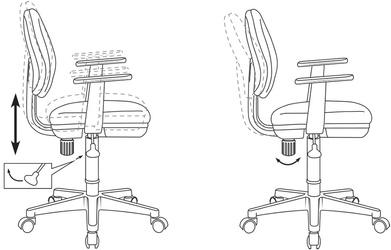Кресло детское Бюрократ CH-W356AXSN темно-синий