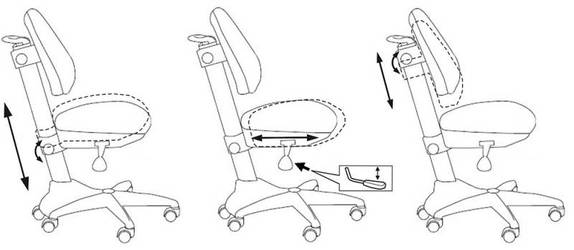 Кресло детское Бюрократ KD-2 светло-голубой