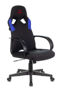 Кресло игровое Zombie RUNNER черный/синий