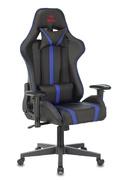 Кресло игровое Бюрократ VIKING ZOMBIE A4 черный/синий