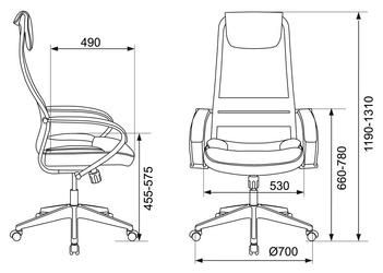 Кресло руководителя Бюрократ CH-608 черный