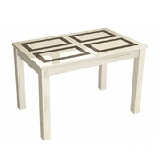 Стол обеденный Бруно 1000х600 дуб крафт белый - рисунок плитка