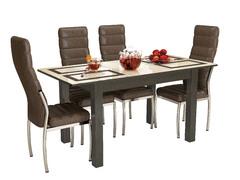 Стол обеденный Бруно 1200х800 венге - рисунок плитка