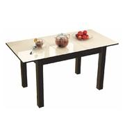 Стол обеденный Бруно 1100х700 венге - лакобель ваниль