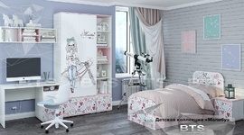 Модульная детская Малибу ясень белый - айскрим комплект-3
