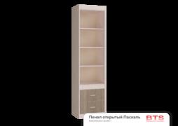Шкаф открытый Паскаль 1-дверный дуб атланта - ясень шимо