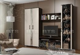 Модульная гостиная Флоренция венге - дуб атланта комплект-1