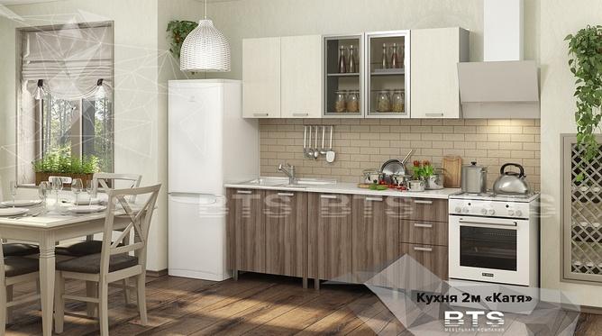 Кухня Катя 2,0м ясень шимо - дуб атланта