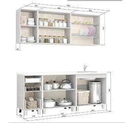 Кухня Скарлетт 2,0м белый