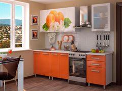 Кухня 1,8м фотопечать - персик