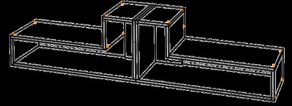 Универсальная секция Смарт-2 метрополитан Грей