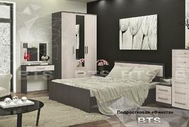 Модульная спальня Фиеста ясень темный - ясень светлый комплект-2