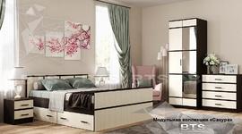 Модульная спальня Сакура венге - лоредо комплект-5