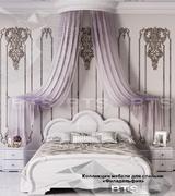Модульная спальня Филадельфия белый - белый бриллиант комплект-2
