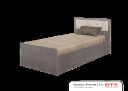 Кровать 0,9м Фиеста ясень темный-ясень светлый