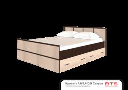Кровать 1,4м Сакура венге - лоредо
