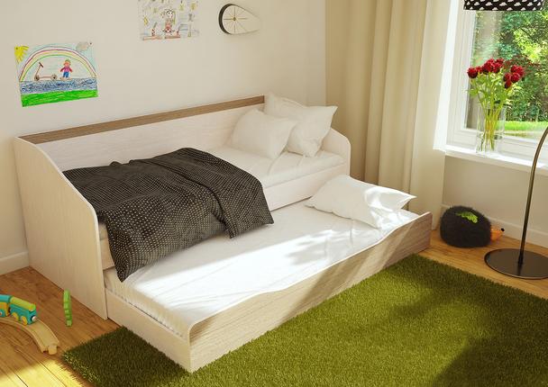 Кровать Паскаль дуб атланта - ясень шимо