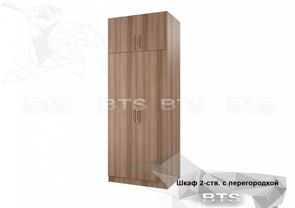 Шкаф 2-х ств. с перегородкой ясень шимо