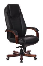 Кресло руководителя Walnut T-9923 черный кожа
