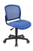 Кресло компьютерное CH-296 BL сетка - темно синий