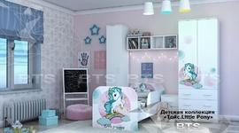 Модульная детская Тойс белый - фотопечать little pony комплект-1
