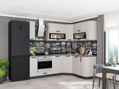 Модульная кухня серии Контемп МДФ слоновая кость