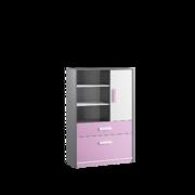 Шкаф книжный Кэнди КШ-2 лаванда