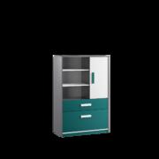 Шкаф книжный Кэнди КШ-2 океан