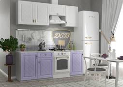 Кухня Гранд МДФ Белый-Фиалка Комплект 1,9м