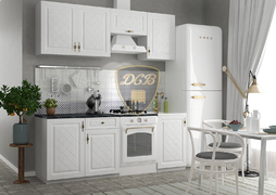Кухня Гранд МДФ Белый Комплект 1,9м