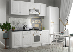 Модульная кухня серии Гранд МДФ белый