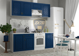 Модульная кухня серии Гранд МДФ синий