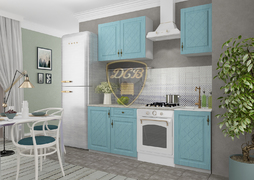 Кухня Гранд МДФ Зеленый Комплект 1,3м