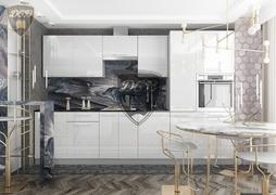 Кухня Капля МДФ белый глянец комплект 3,4м