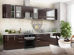 Кухня Капля МДФ шоколад глянец комплект 3,3м