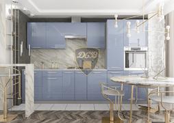 Кухня Капля МДФ сизый глянец комплект 3,4м