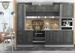 Кухня Капри МДФ камень темный комплект 2,8м