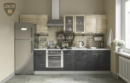 Кухня Лофт МДФ дуб майский - бетон темный комплект 3,2м