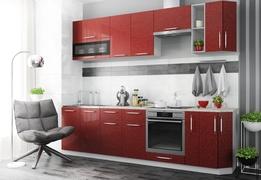 Модульная кухня серии Олива гранат металлик
