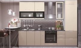Модульная кухня серии Олива ваниль глянец