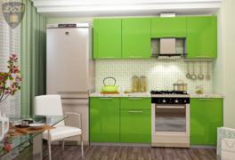 Кухня Олива МДФ зеленый металлик комплект 1,7м
