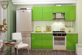 Модульная кухня серии Олива зеленый металлик
