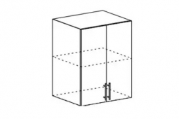 Шкаф верхний высокий Орио ВП 600 МДФ Ваниль