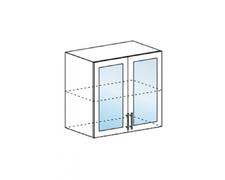 Шкаф верхний со стеклом высокий Орио ВПС 800 МДФ Ваниль